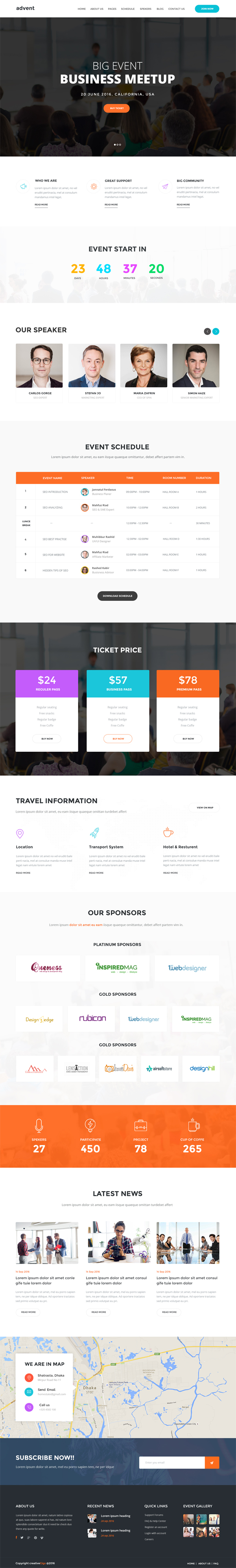 advent - Event & Conference PSD Template
