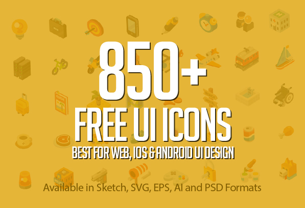 850+ Free Icons for Web, iOS and Android UI Design