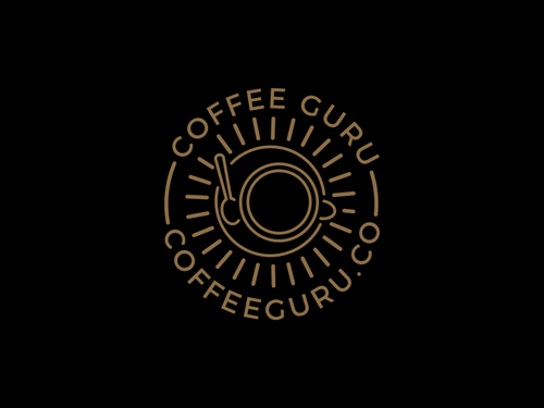 Coffee Cup Circle Logo with a West Coast by Redneck Superhero