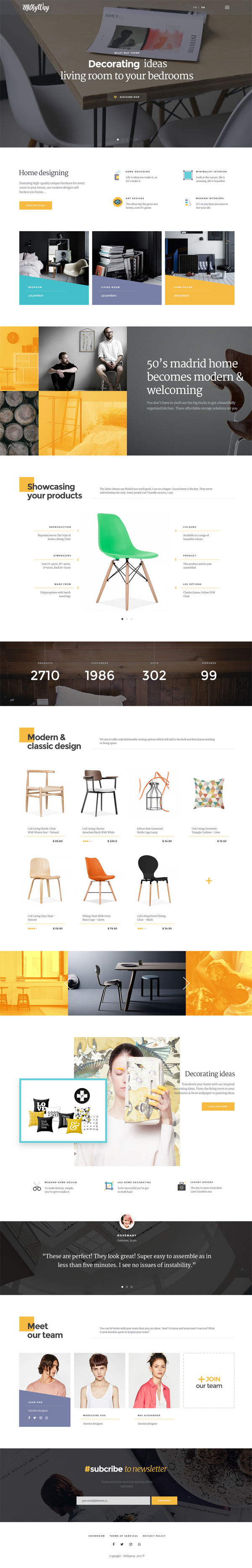 Milkyway - Creative and Ecommerce PSD Template