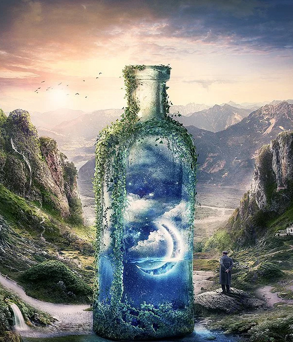 Create a Surreal and Magical Dream Bottle Landscape in Photoshop Tutorial