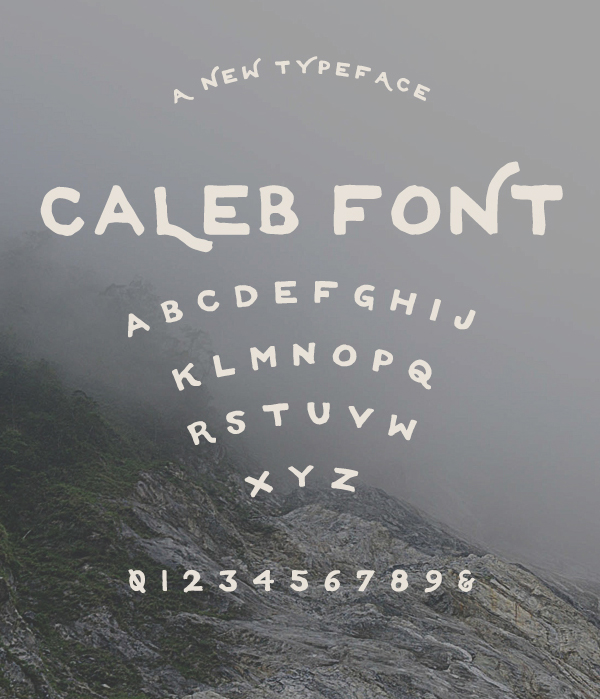 Caleb fonts and letters