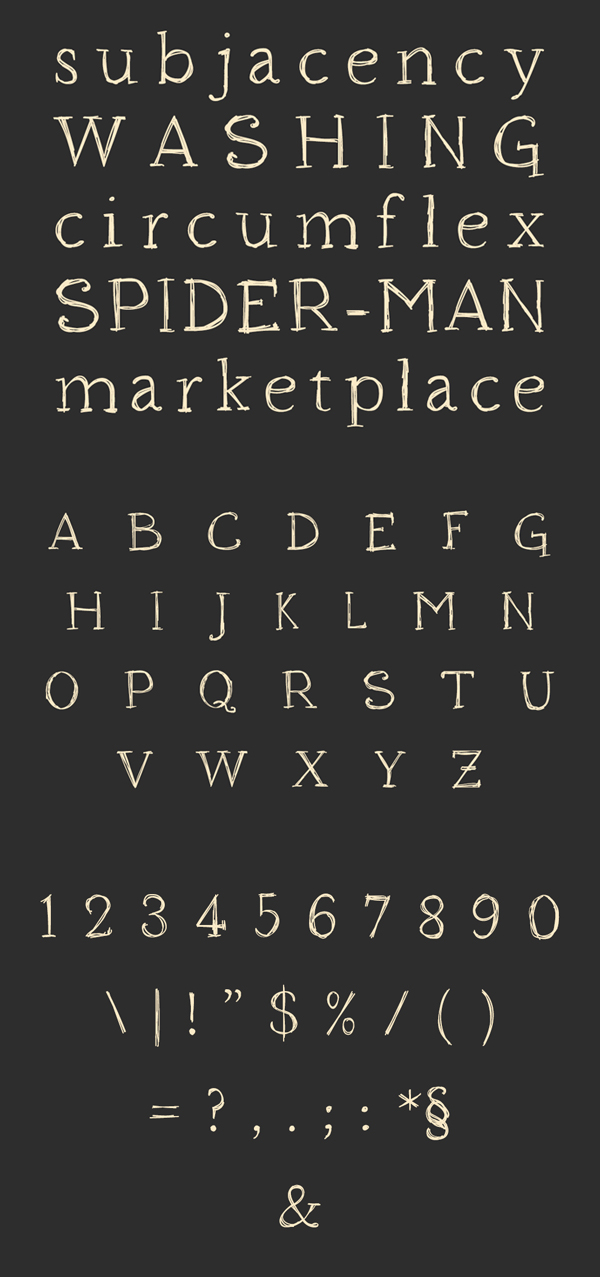 Houndville fonts and letters