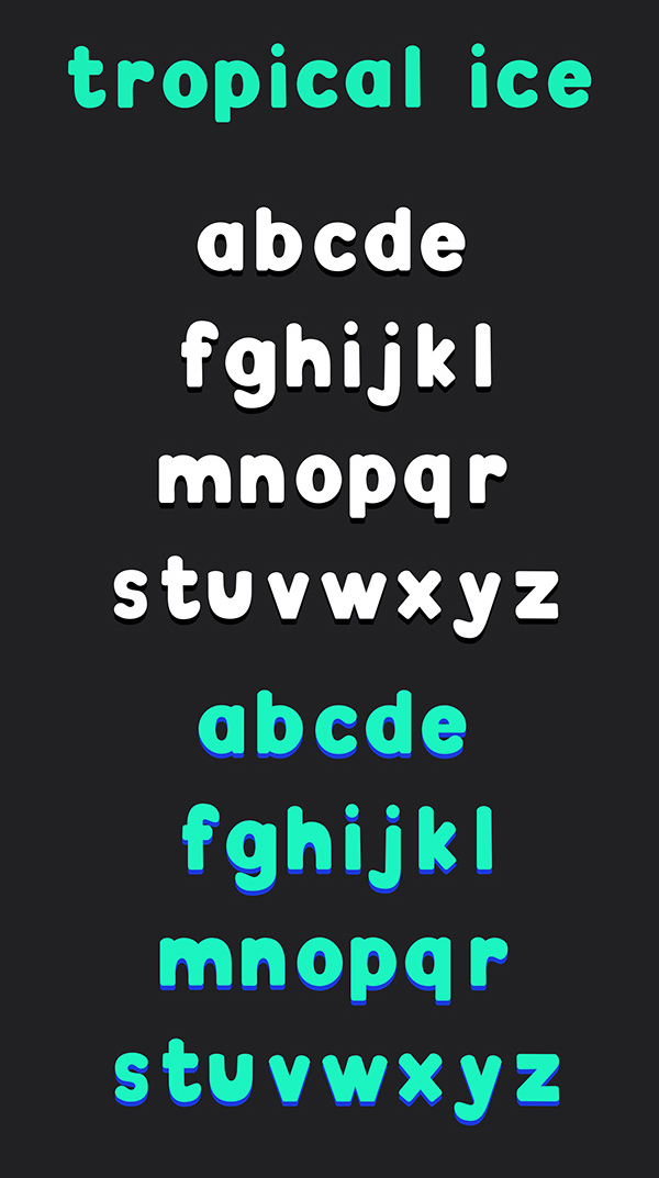 Tropical Ice fonts and letters