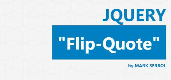 Flip Quote jQuery Plugin