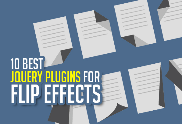 What are the 10 jQuery Plugins for creating flip effects?