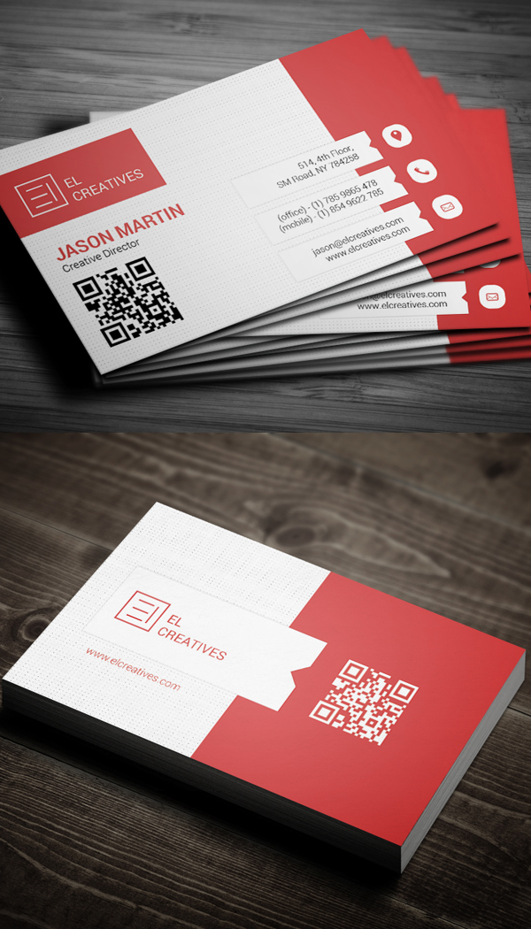 Red Creative Business Card