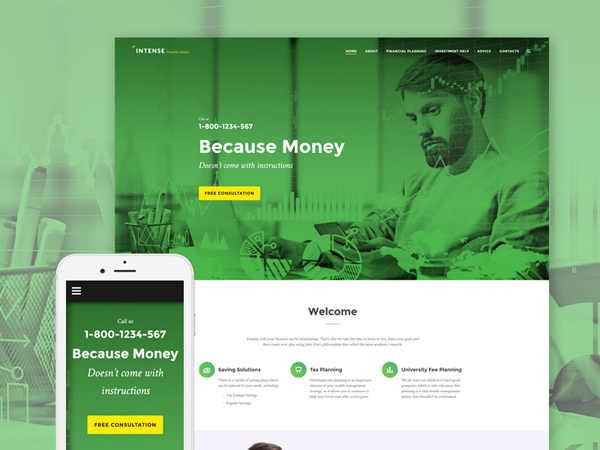 Financial Consultant Website Template