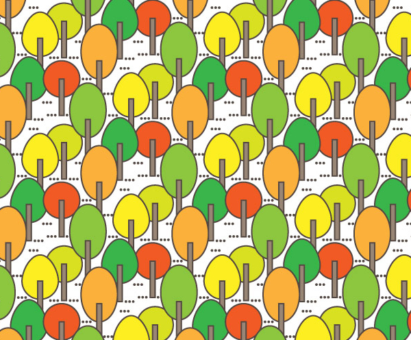 How to Create an Easy Autumn Tree Pattern in Adobe Illustrator