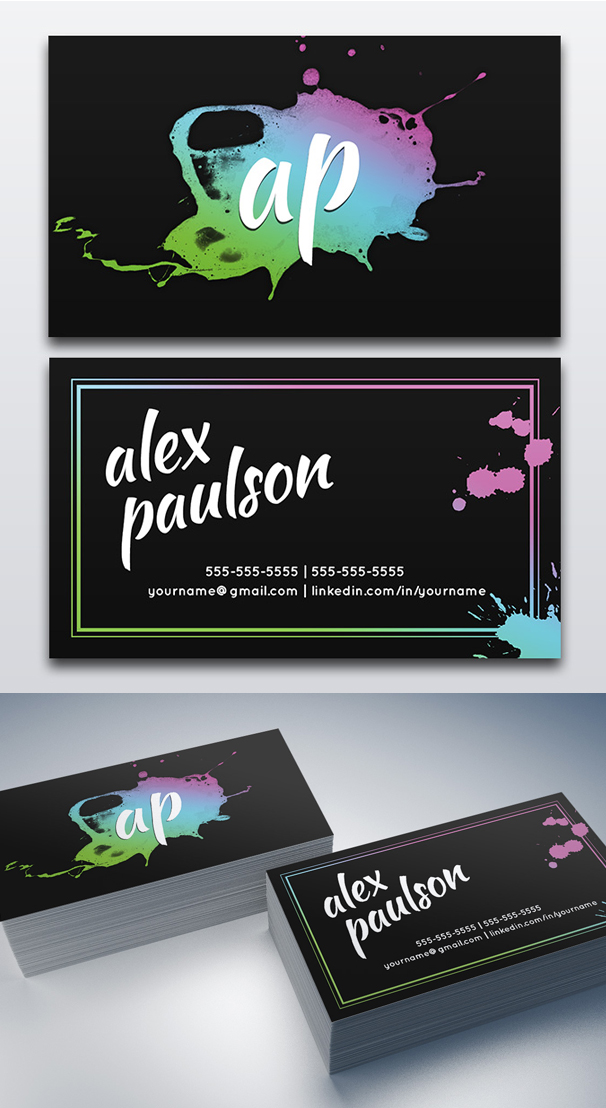 Paint Splatter Business Card