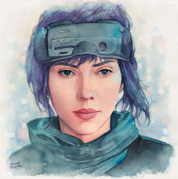 Amazing Watercolor Portrait Illustrations By Hector Trunnec - 1