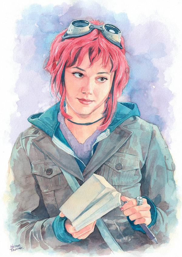 Amazing Watercolor Portrait Illustrations By Hector Trunnec - 11