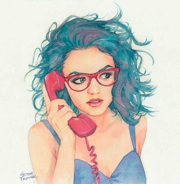 Amazing Watercolor Portrait Illustrations By Hector Trunnec - 16