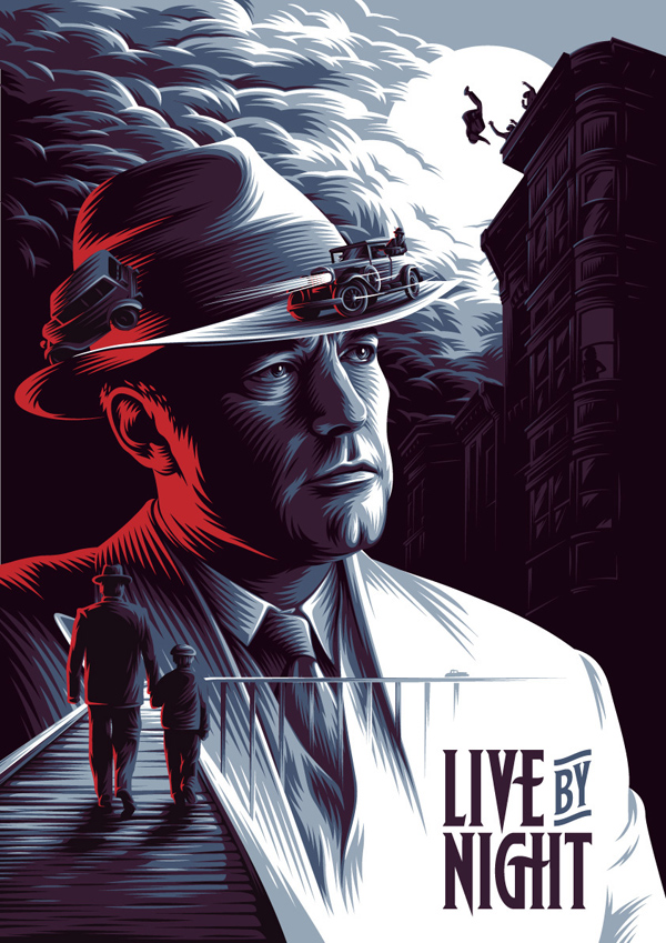 Live By Night Illustrated Poster