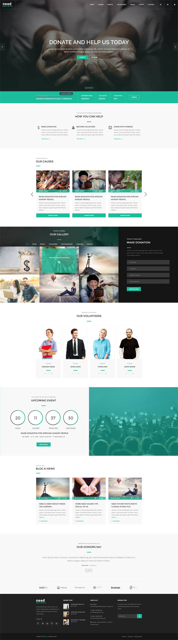 Need - Nonprofit Charity Donation HTML Template