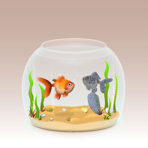 How to create a realistic Fishbowl in Adobe Illustrator