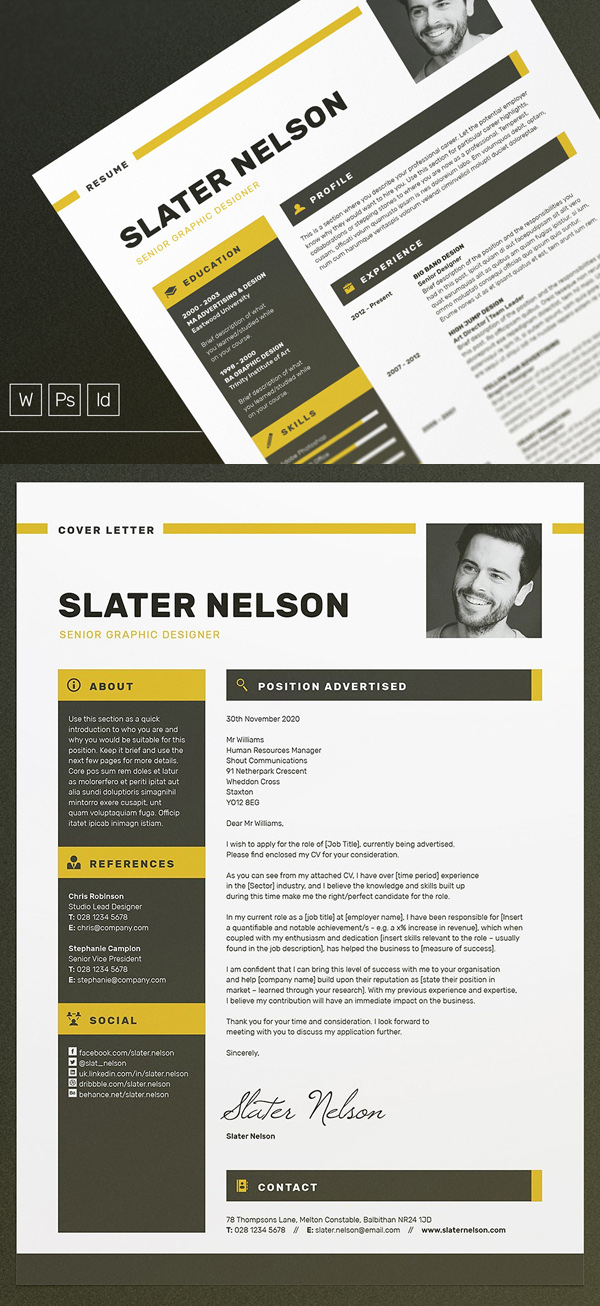 A4 & US Letter Resume / CV Template