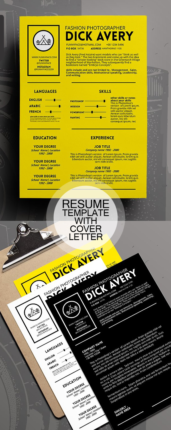 Professional Resume Template with Cover Letter