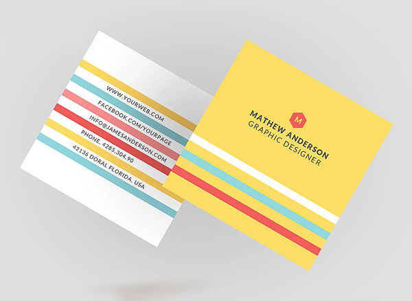Square Modern Business Card Template