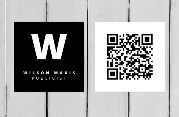 Square Minimal Business Card Template