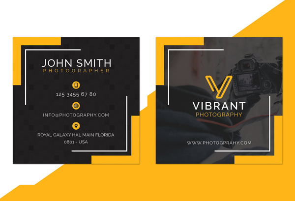 Square Photography Business Card