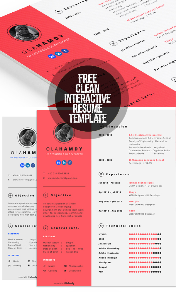 50 Free Resume Templates: Best Of 2018 -  44