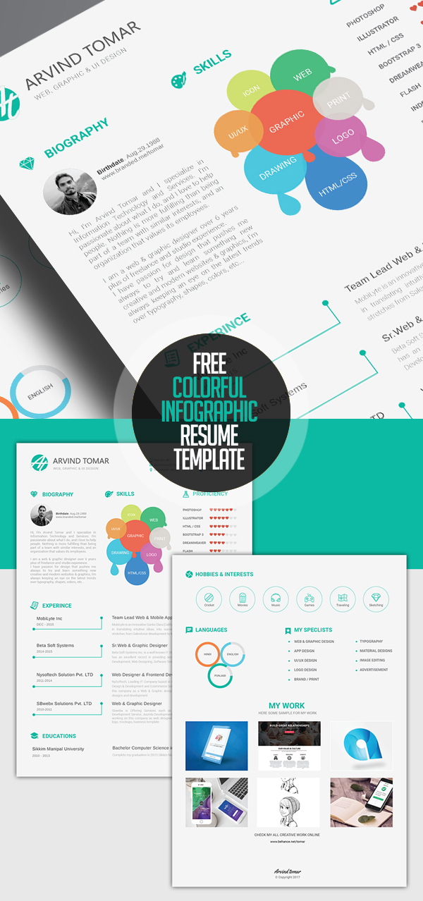 Free Colorful Infographic Resume Template