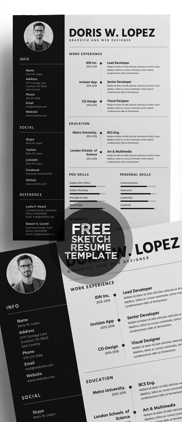 50 Free Resume Templates: Best Of 2018 -  39