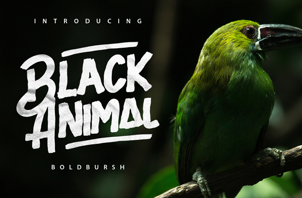 Black Animal Free Brush Font