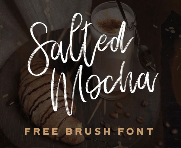 Salted Mocha Free Brush Font