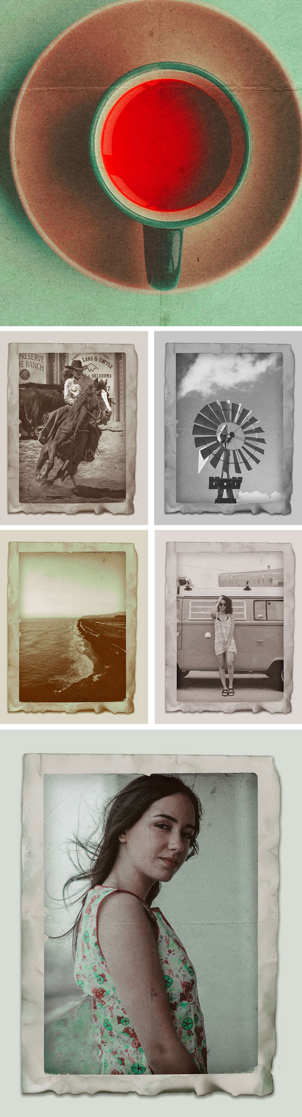 Free Vintage Photo Effects PSD