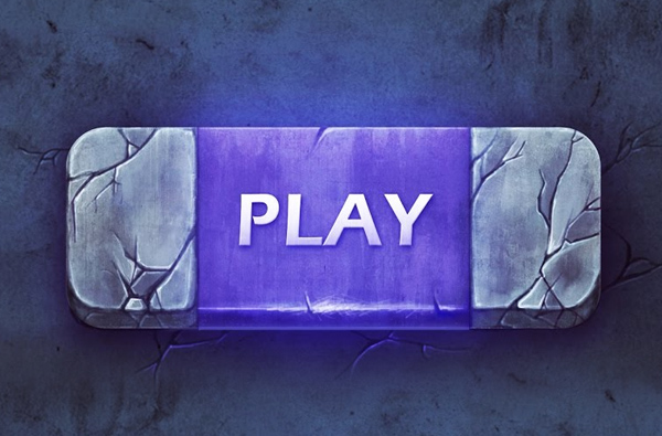 How to Create Highly Creative Painted Game Button in Photoshop