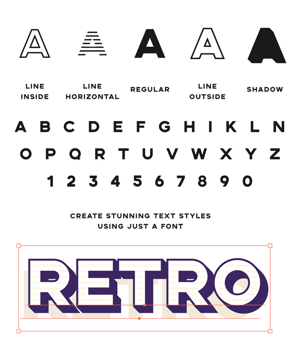 Aemstel Free Font Letters