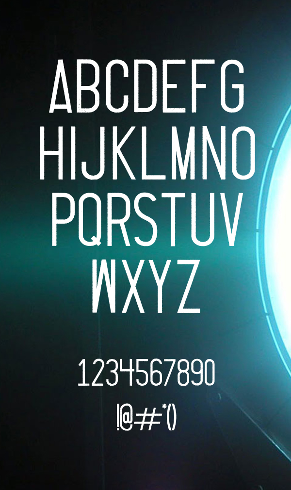 Thruster Free Font Letters