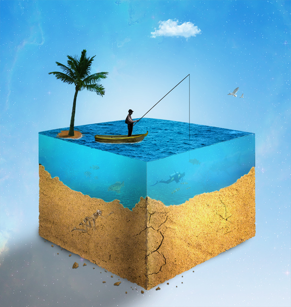 How to Create a Realistic Water Cube in Photoshop