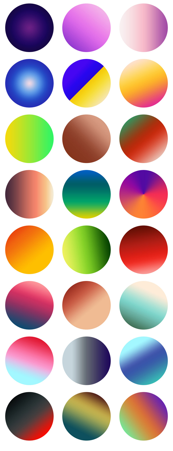 Free Vibrant Gradients For Photoshop