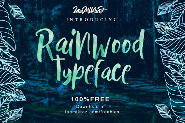 Rainwood Free Brush Font