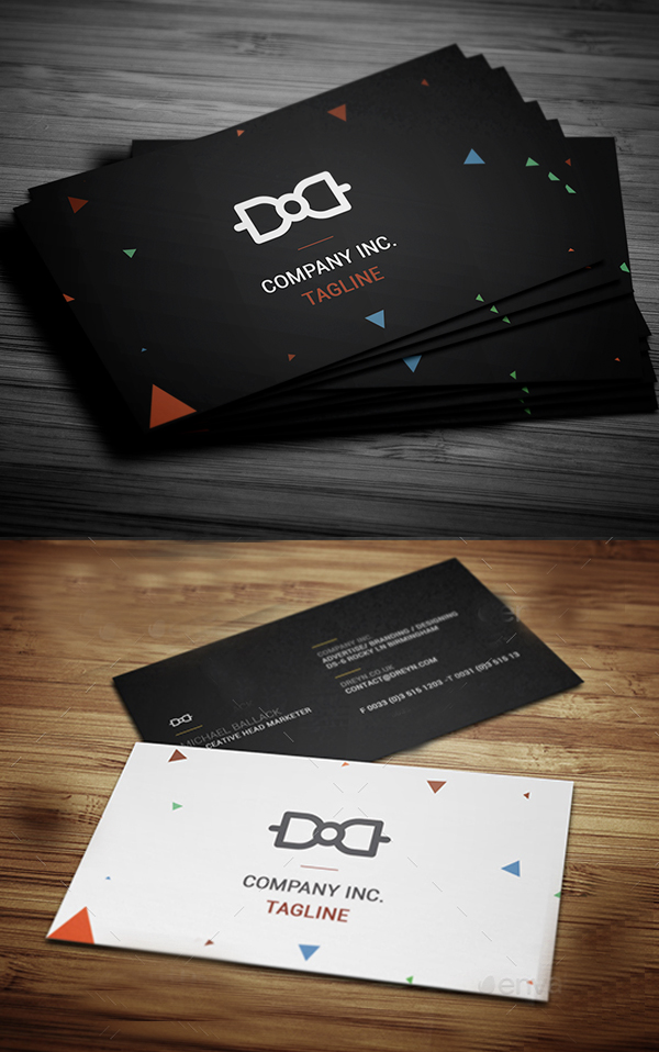Simple Absract Business Card