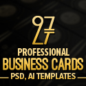 Post Thumbnail of 27 New Professional Business Card PSD Templates