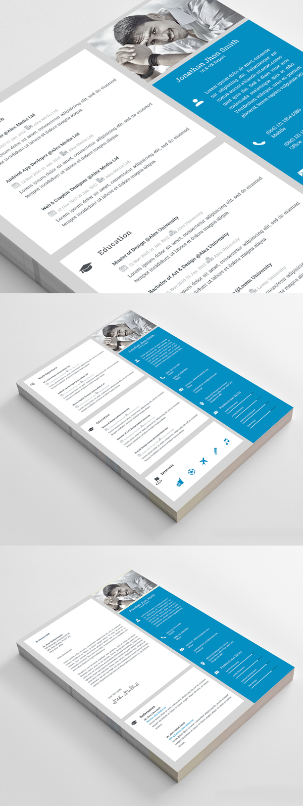 Free Resume Template and Resume Mockup PSD