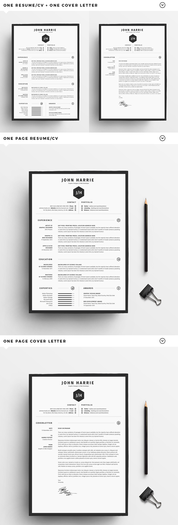 50 Free Resume Templates: Best Of 2018 -  15