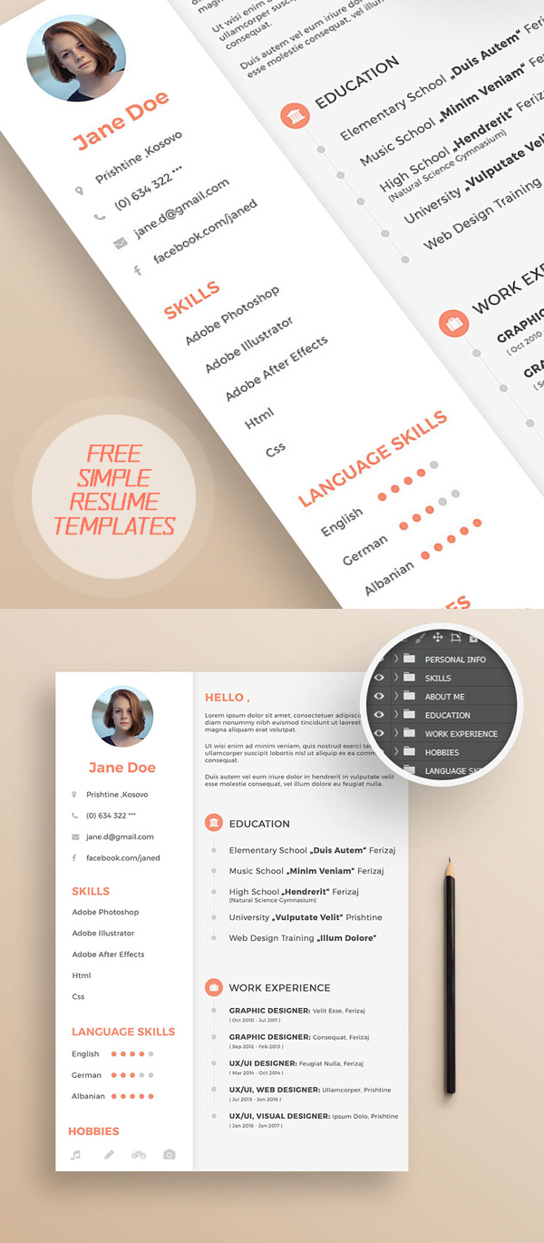 50 Free Resume Templates: Best Of 2018 -  21