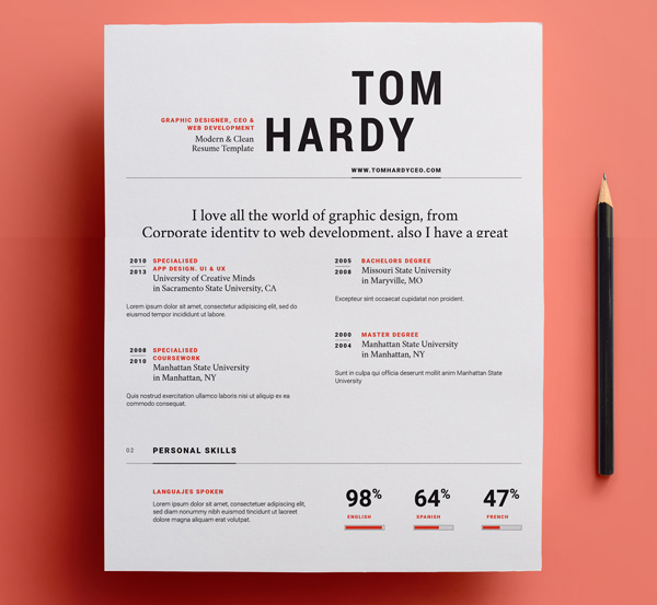 50 Free Resume Templates: Best Of 2018 -  22