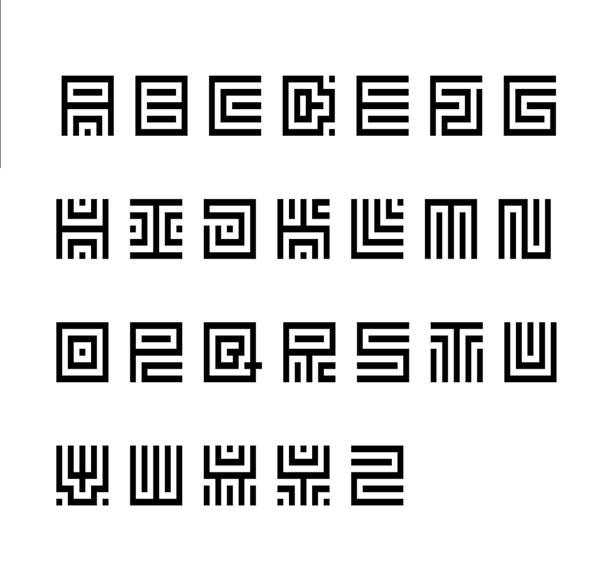Carre Free Font Letters