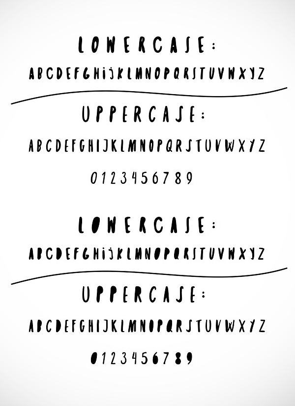 Twin Pines Font Letters