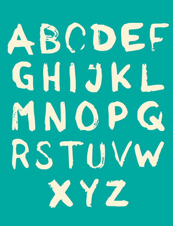 Unusual Brsuh Free Font Letters