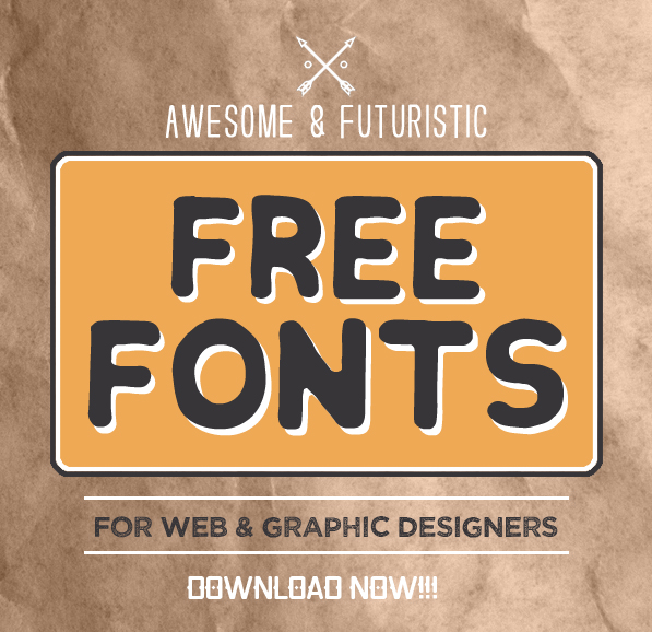 New Awesome & Futuristic Free Fonts for Designers