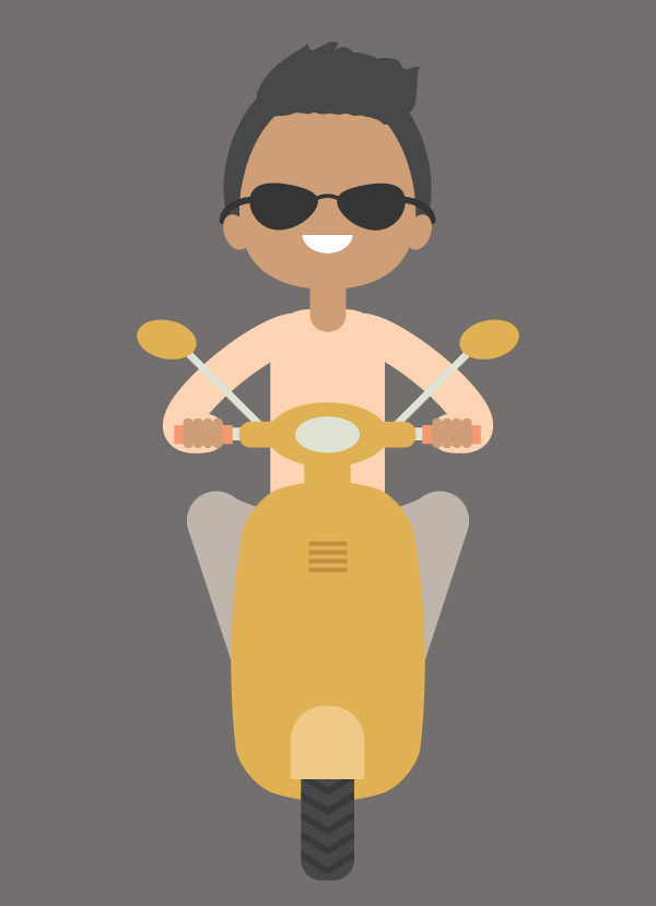 How to Create an Illustration of a Boy on a Scooter in Adobe Illustrator