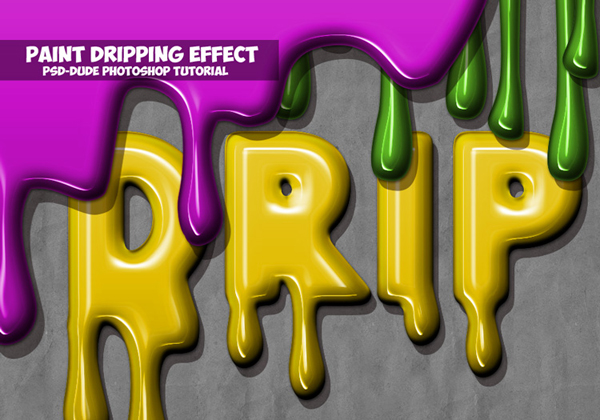 How to Create a Paint Drip Text Effect In Photoshop