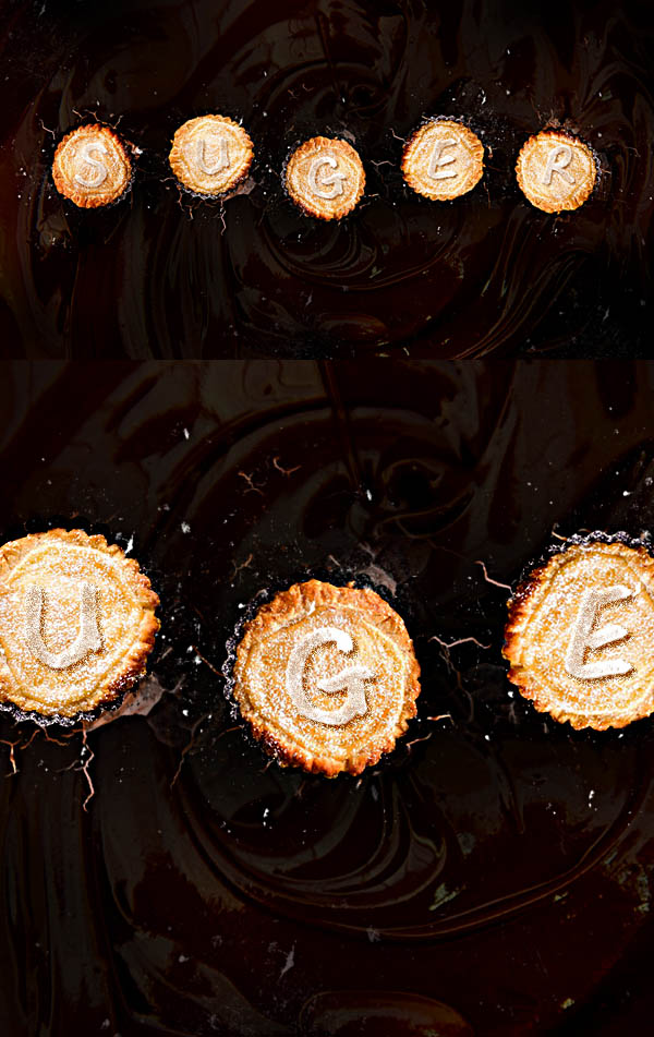 Create Crispy Pastry Text Effect with Dark Chocolate Background in Photoshop